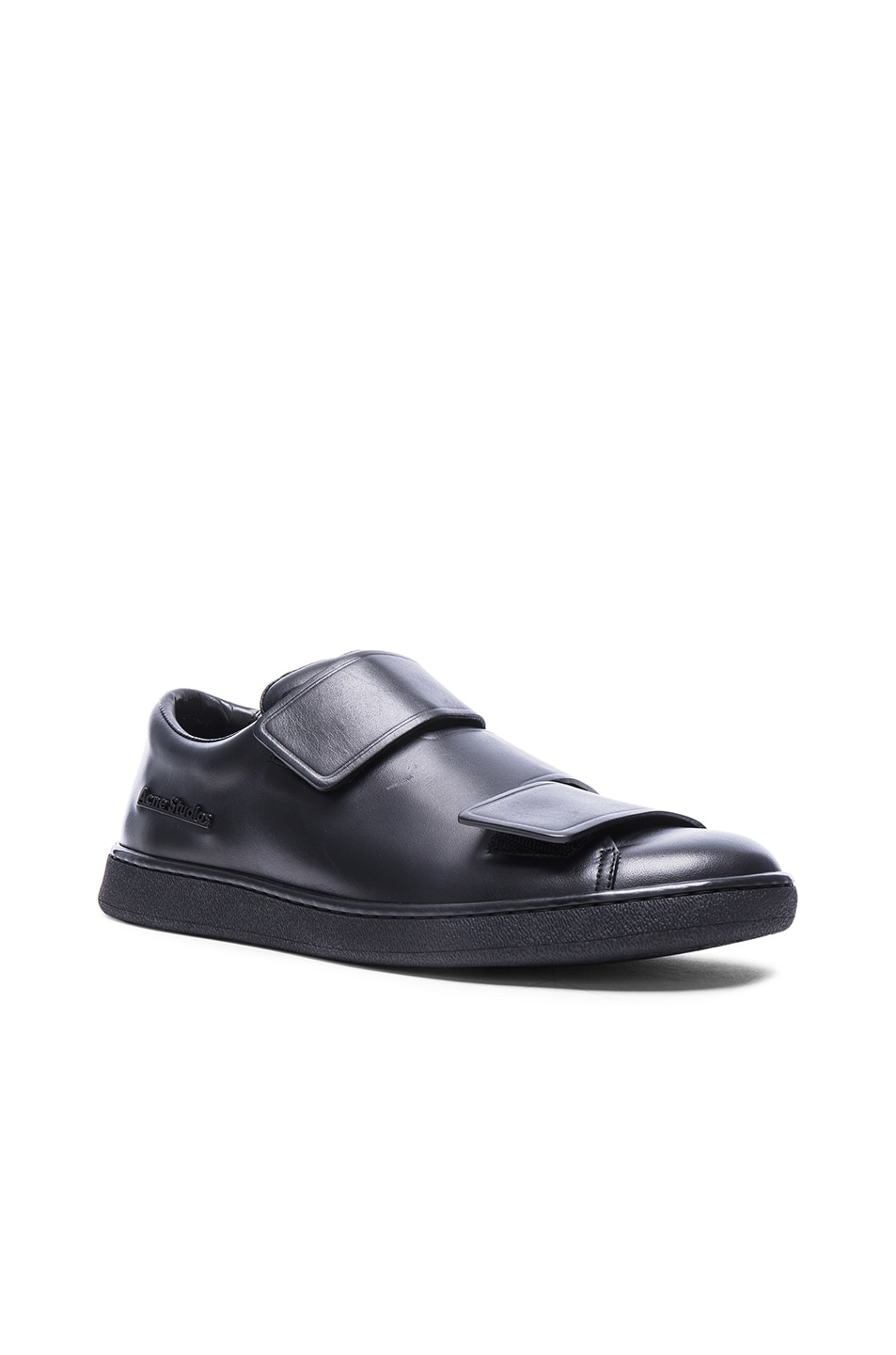 fdcc3c35d593 Image 1 of Acne Studios Leather Triple Lo Sneakers in Black
