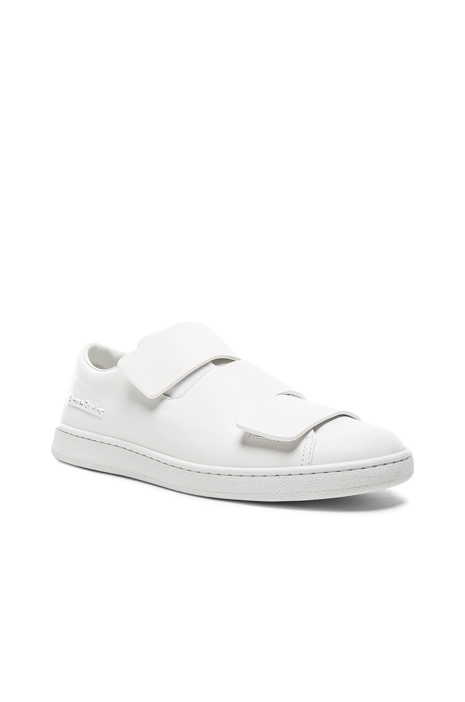 495981edf4a28 Image 1 of Acne Studios Leather Triple Lo Sneakers in White