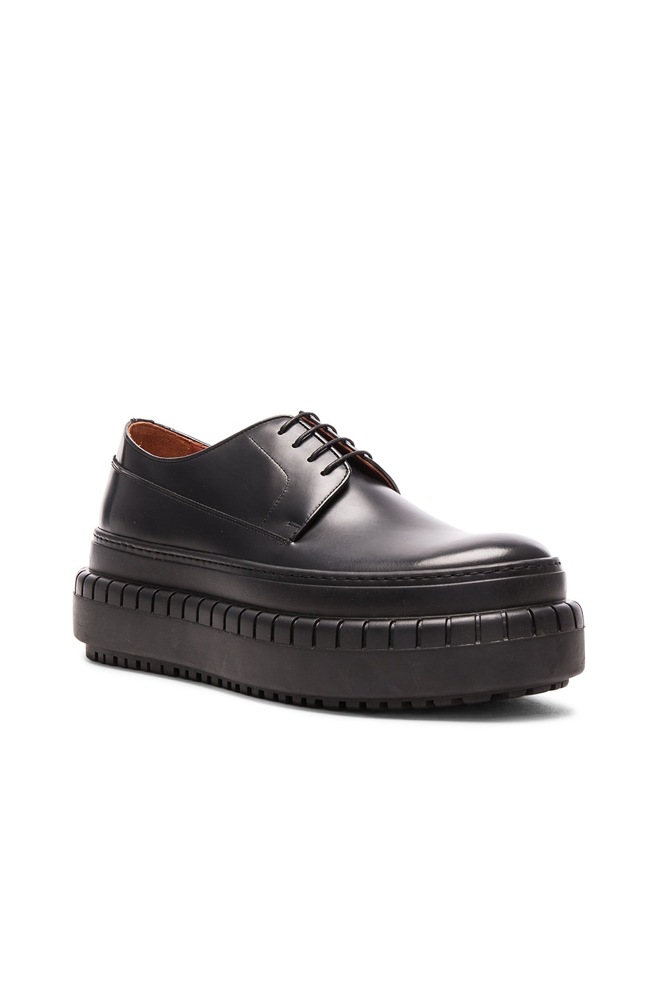 e0c5dbbb1693 Image 1 of Acne Studios Leather Hover Derbies in Black