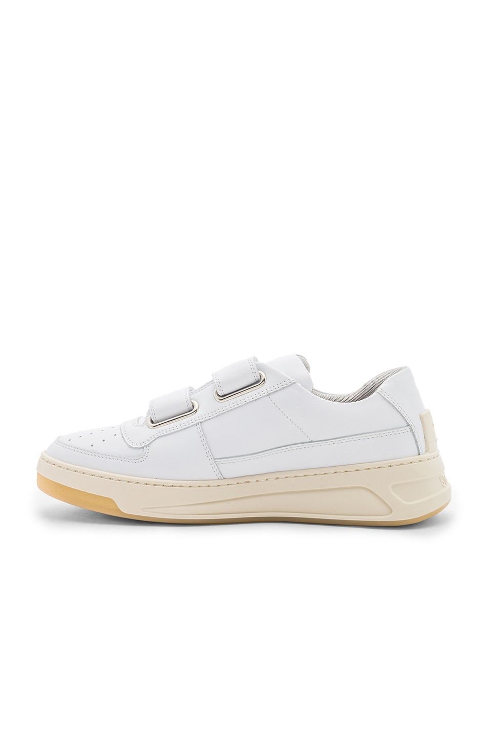 Image 5 of Acne Studios Leather Pete Sneakers in White