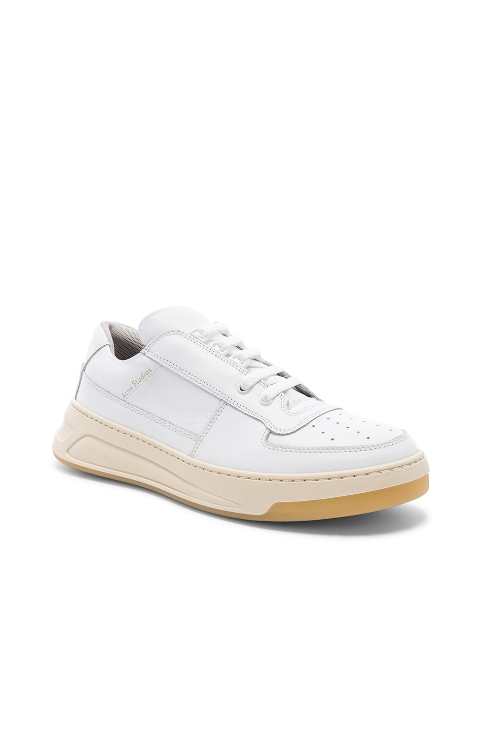 Image 1 of Acne Studios Perey Lace Up Sneakers in White & White
