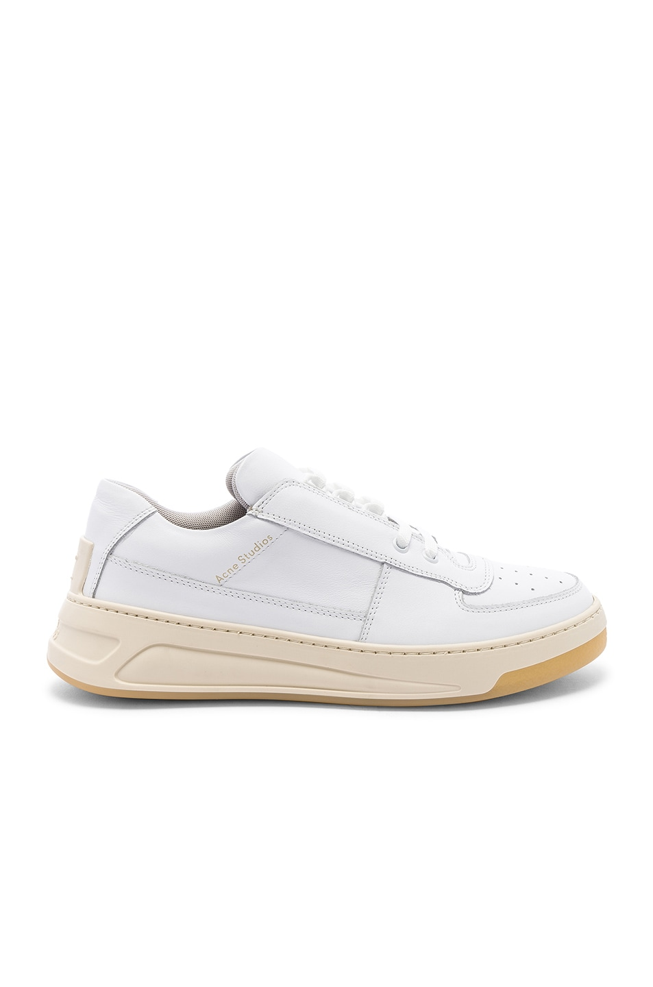 Image 2 of Acne Studios Perey Lace Up Sneakers in White & White