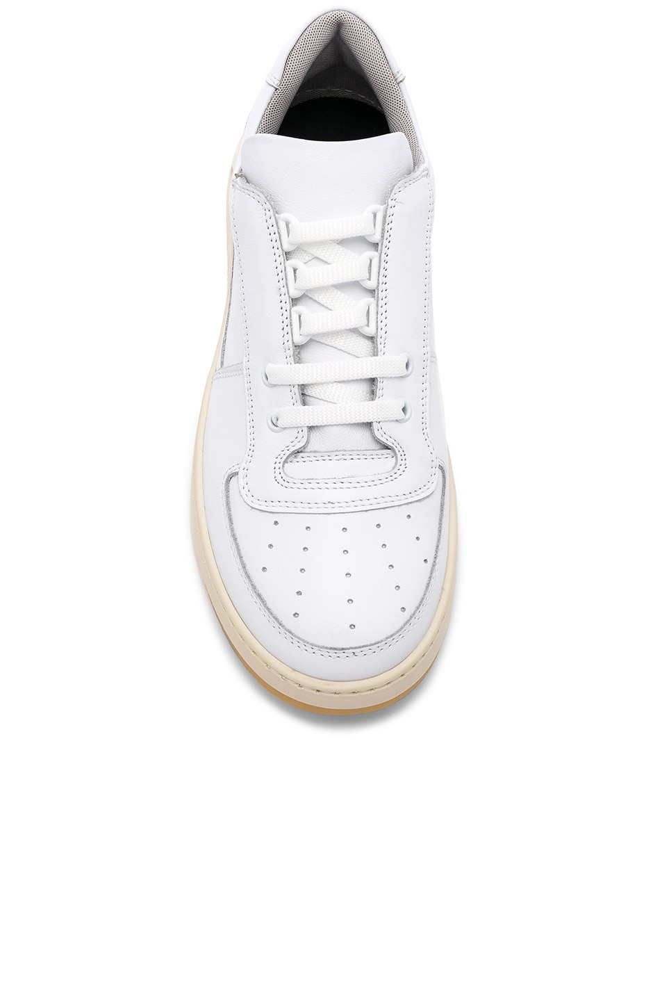 Image 4 of Acne Studios Perey Lace Up Sneakers in White & White