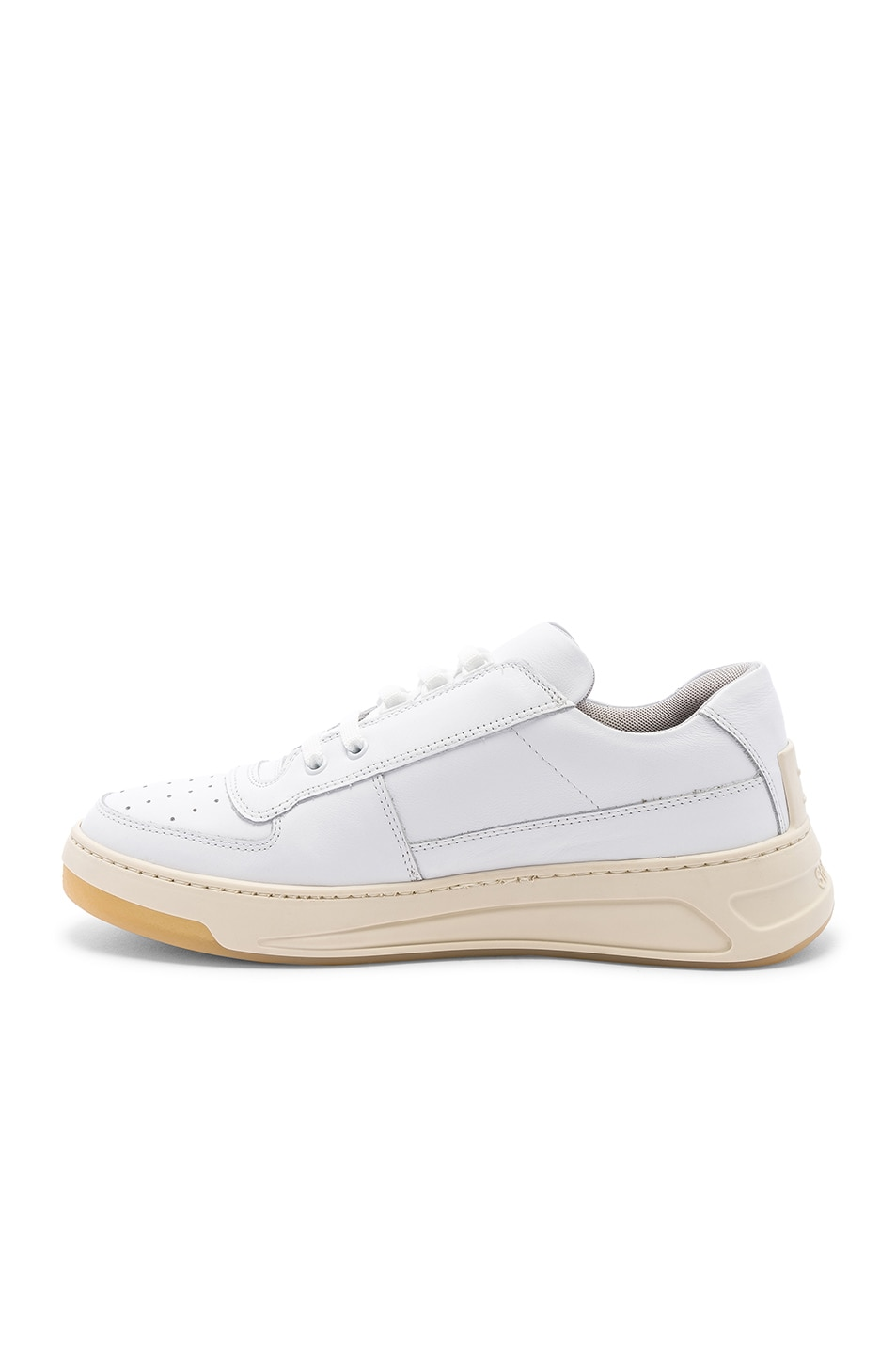 Image 5 of Acne Studios Perey Lace Up Sneakers in White & White