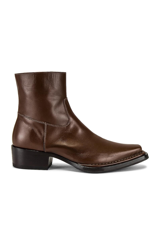 Image 1 of Acne Studios Ankle Boot in Dark Brown