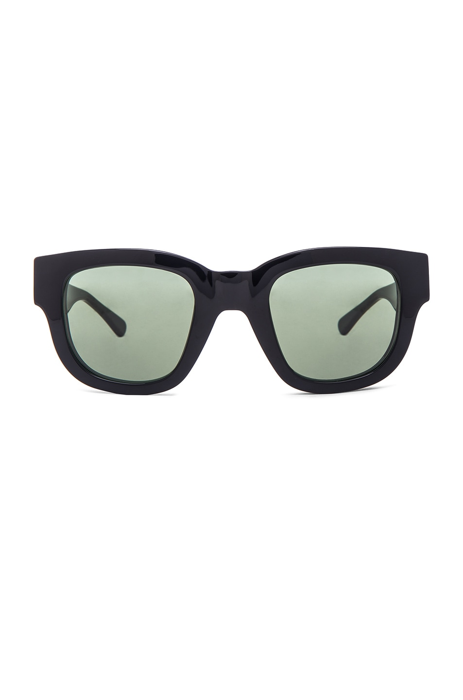 Image 1 of Acne Studios Frame A Sunglasses in Black & Green
