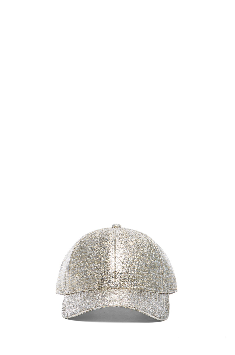 Image 1 of Acne Studios Glitter Camp Hat in Silver