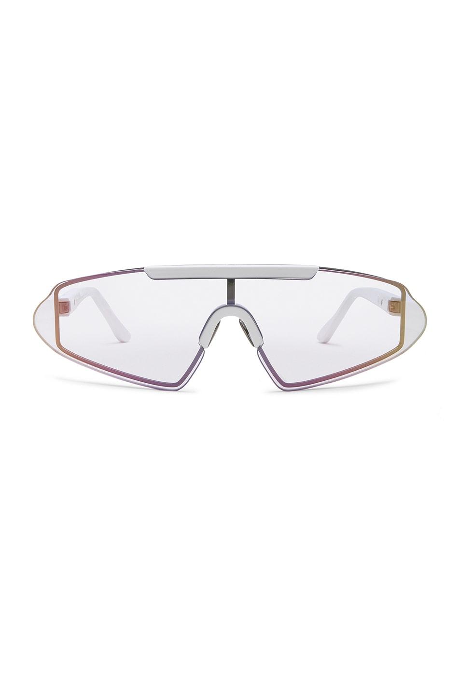 081d8fc0e8987 Image 1 of Acne Studios Bornt Sunglasses in White   Light Silver Pink