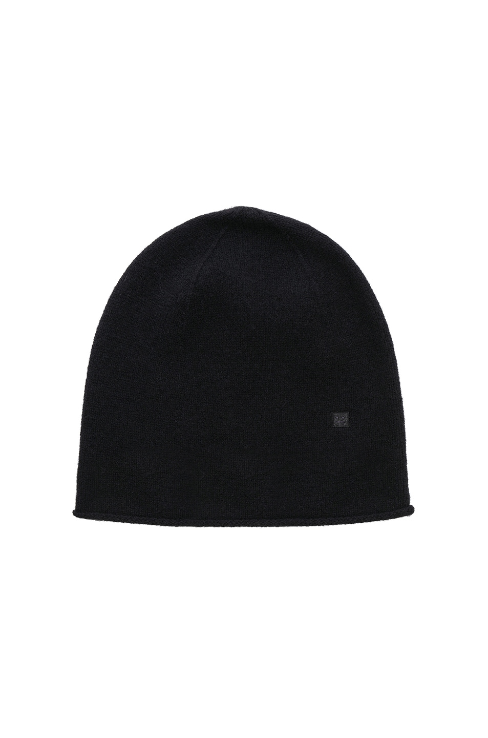 Image 1 of Acne Studios Face Slouch Beanie in Black