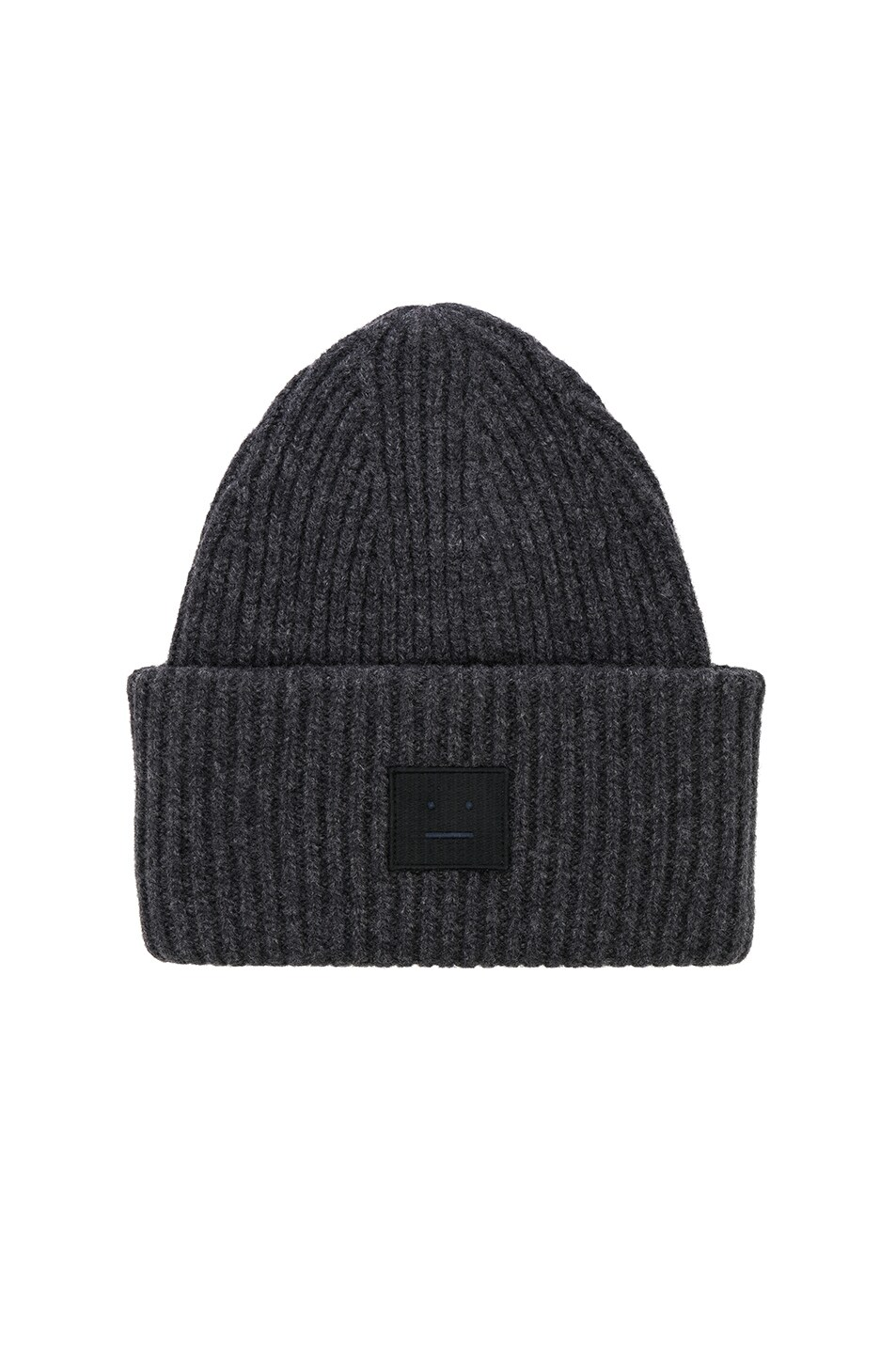 Image 1 of Acne Studios Pansy Face Beanie in Charcoal Melange