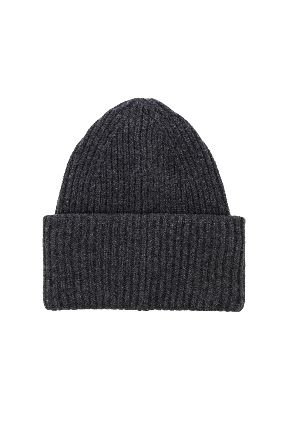 Image 2 of Acne Studios Pansy Face Beanie in Charcoal Melange