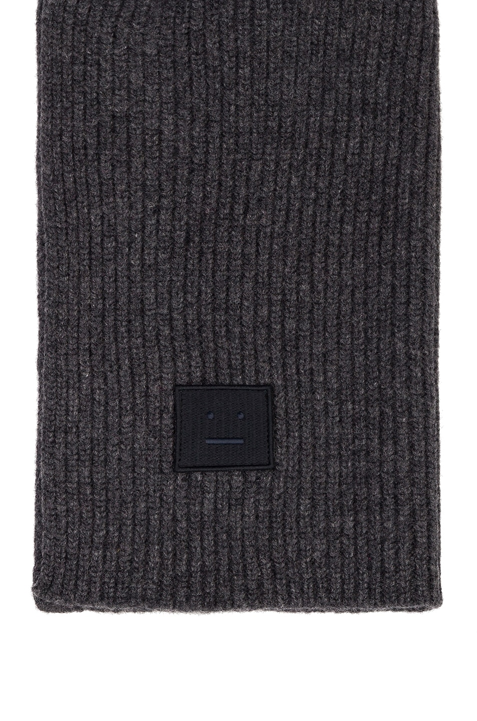 Image 3 of Acne Studios Pansy Face Scarf in Charcoal Melange