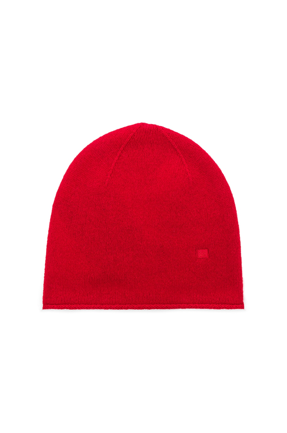 Image 1 of Acne Studios Face Slouch Beanie in Ruby Red