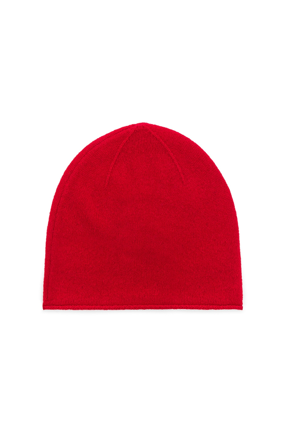 Image 2 of Acne Studios Face Slouch Beanie in Ruby Red
