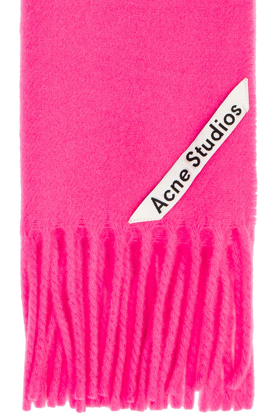Image 3 of Acne Studios Canada Narrow Scarf in Pink & Fluo Pink