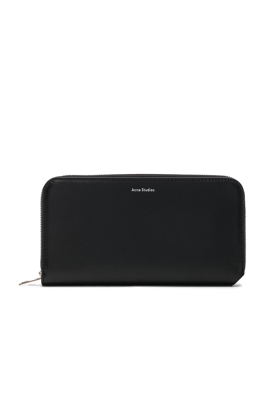 Image 1 of Acne Studios Fluorite Wallet in Black