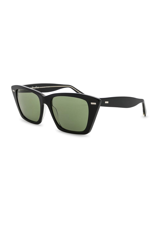 Image 2 of Acne Studios Ingridh Sunglasses in Black, Yellow & Green
