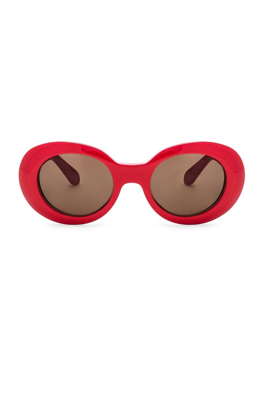 Image 1 of Acne Studios Mustang Sunglasses in Red & Brown