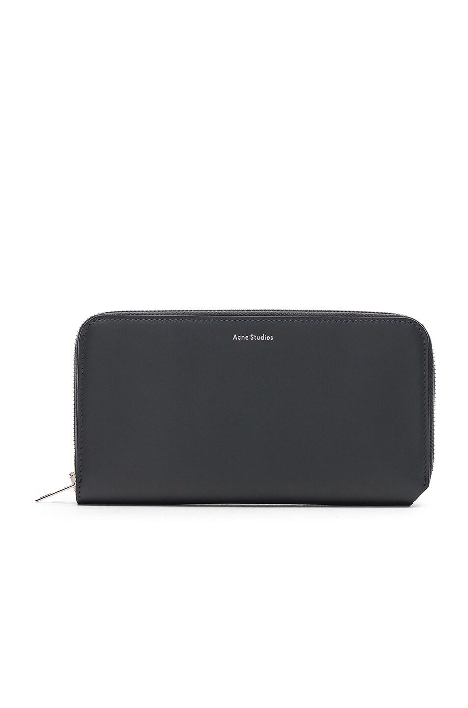 Image 1 of Acne Studios Fluorite Wallet in Dark Blue