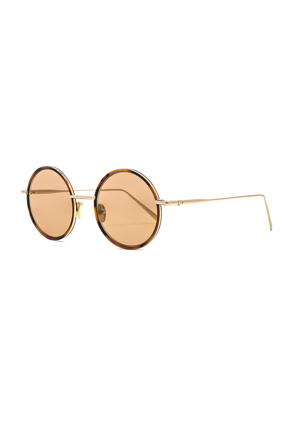 Image 2 of Acne Studios Scientist Sunglasses in Tortoise & Brown