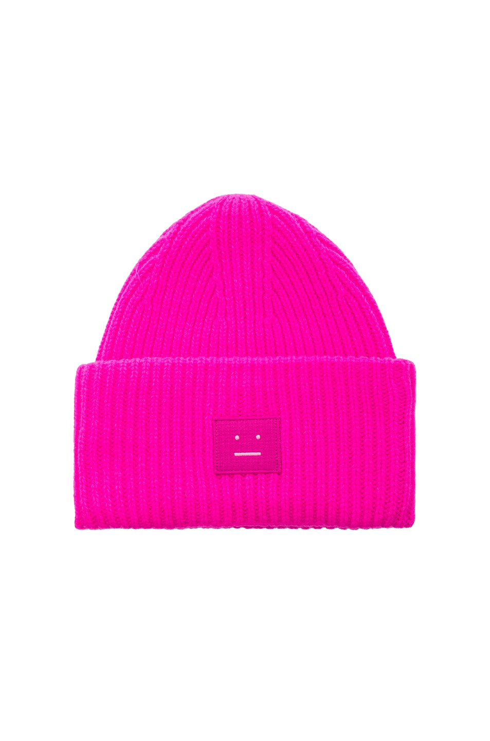 Image 1 of Acne Studios Pansy Face Beanie in Bright Pink
