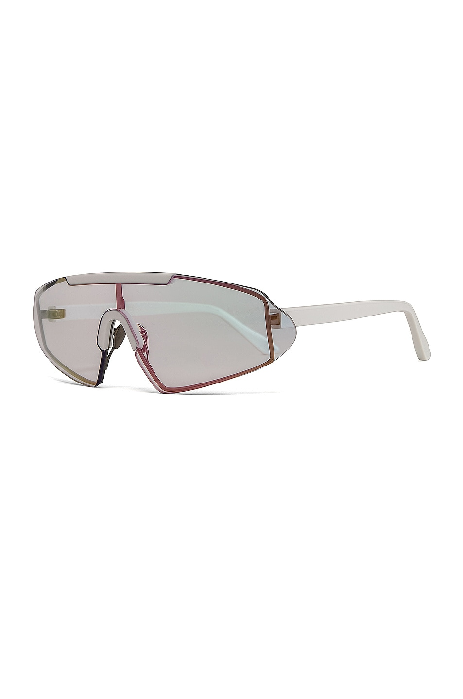 Image 2 of Acne Studios Bornt Sunglasses in White & Pink