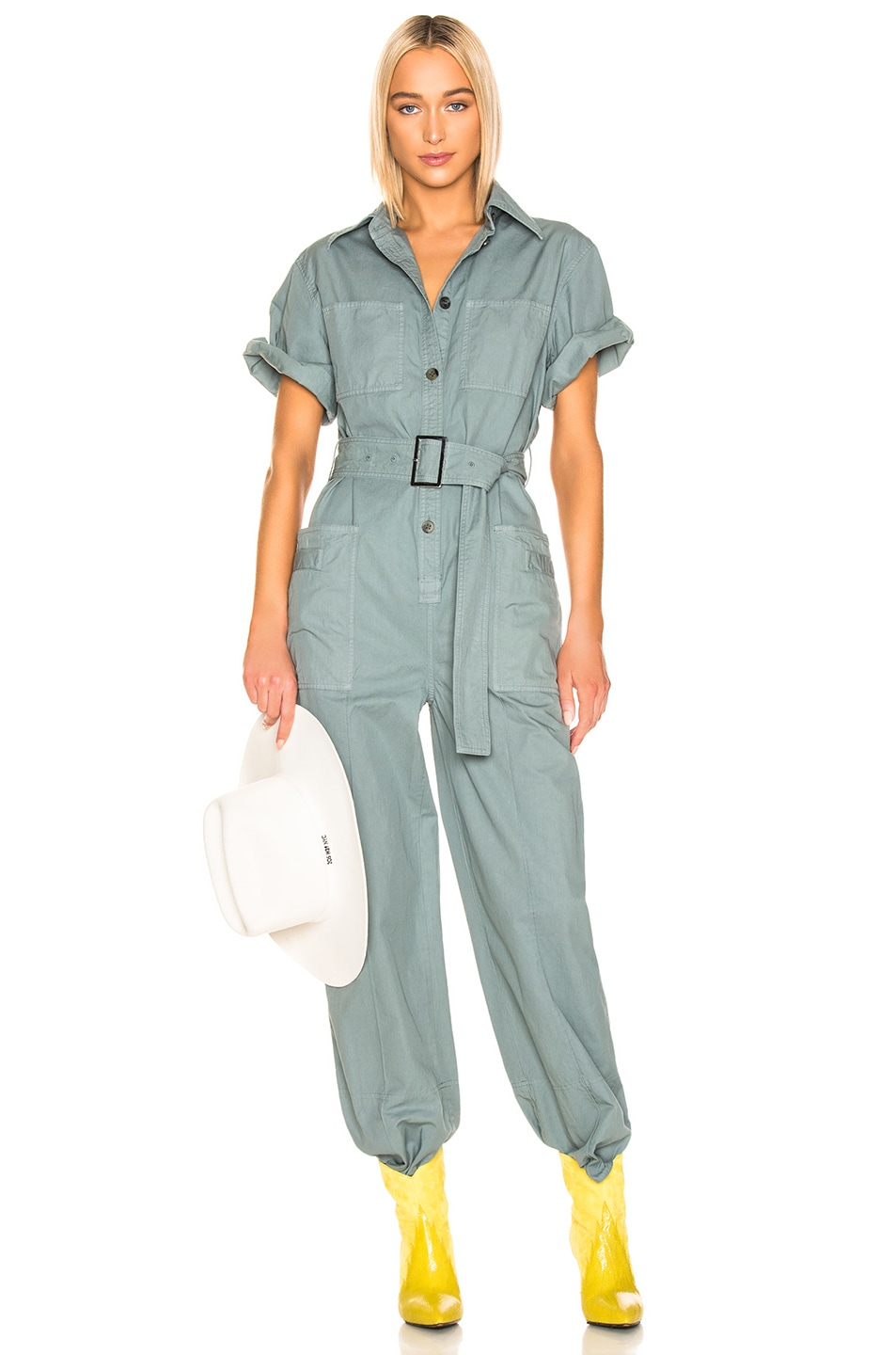 Image 1 of Acne Studios Phyllis Jumpsuit in Dusty Green