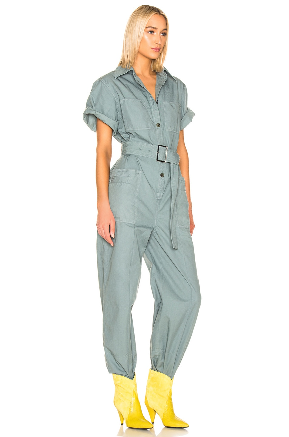 Image 2 of Acne Studios Phyllis Jumpsuit in Dusty Green