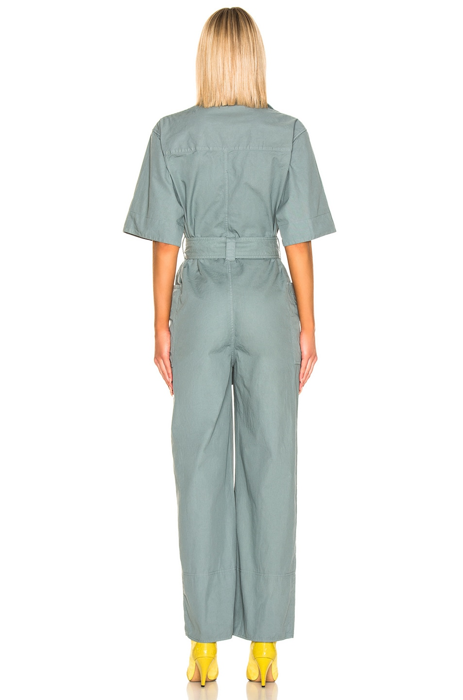 Image 3 of Acne Studios Phyllis Jumpsuit in Dusty Green
