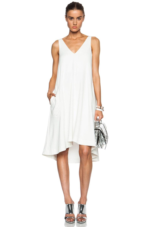 Image 1 Of Acne Studios Cam Gabardine Dress In White