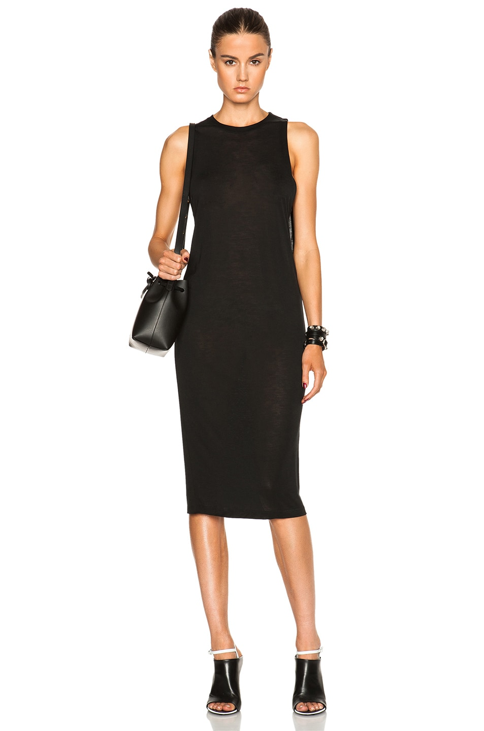 Image 1 Of Acne Studios Corvina Tencel Dress In Black