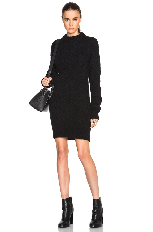 Acne Studios Visa Mohair Sweater Dress In Black Fwrd