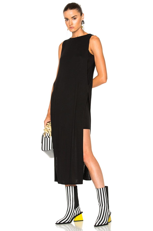 3612fe1ed04ab9 Image 1 of Acne Studios Ethel Tencel Jersey Midi Dress in Black