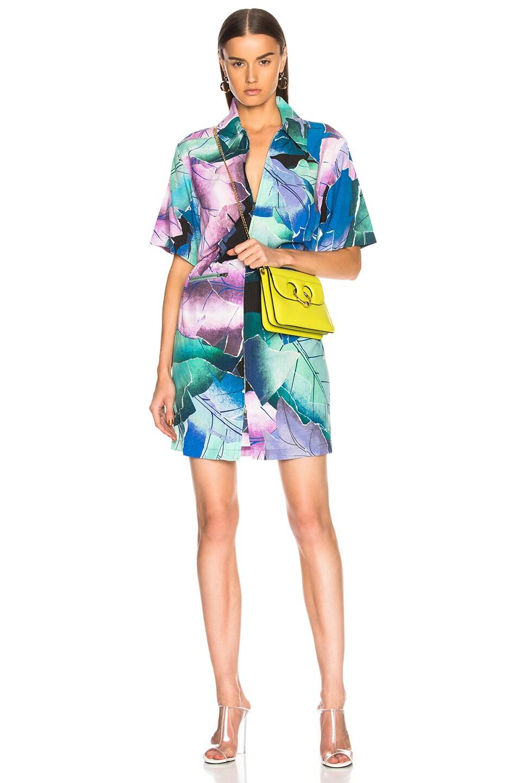Acne Studios Mardisa Dress in Abstract,Blue,Green,Purple