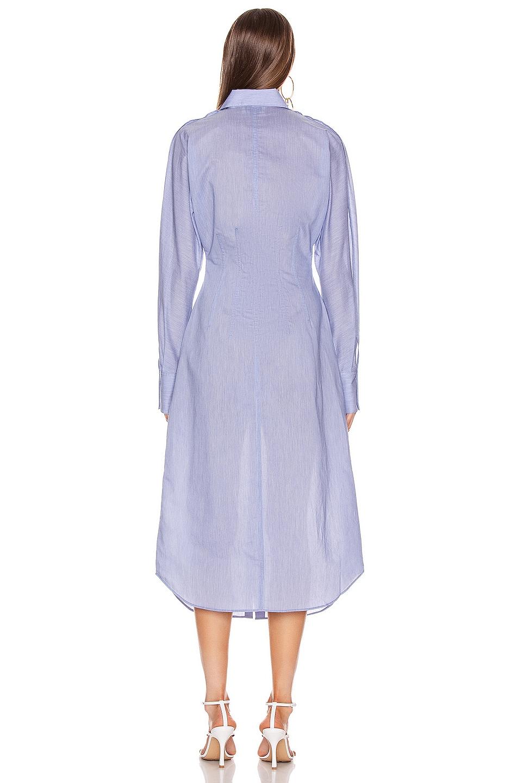 Image 3 of Acne Studios Cotton Poplin Dress in Powder Blue