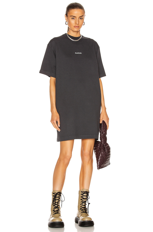 Image 1 of Acne Studios Oversized T-Shirt Dress in Black