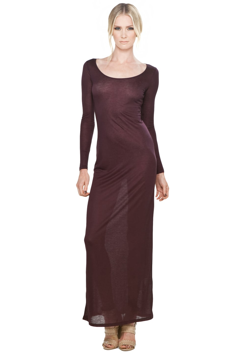 Image 1 of Acne Studios Extreme Maxi in Wine Red