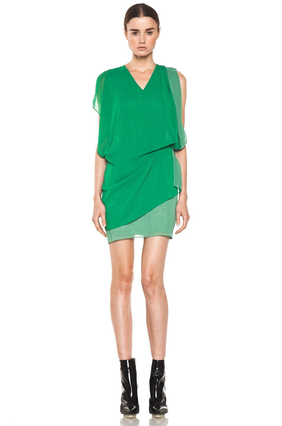 Image 1 of Acne Studios Mallory Contrast Dress in Green
