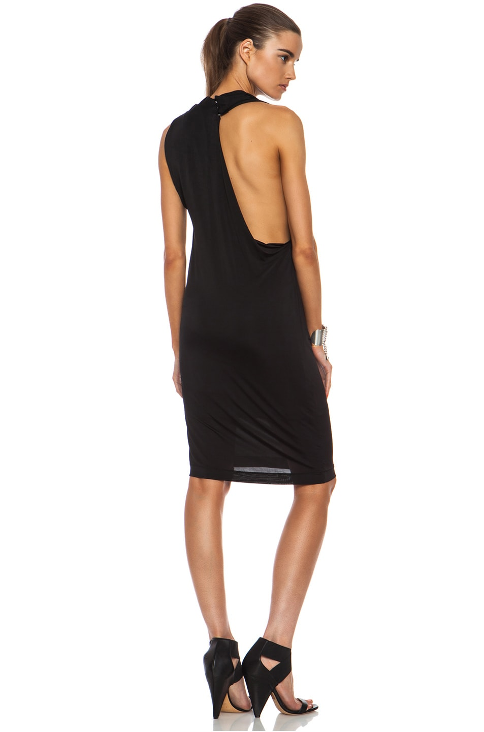 Image 1 Of Acne Studios Heat Viscose Blend Dress In Black