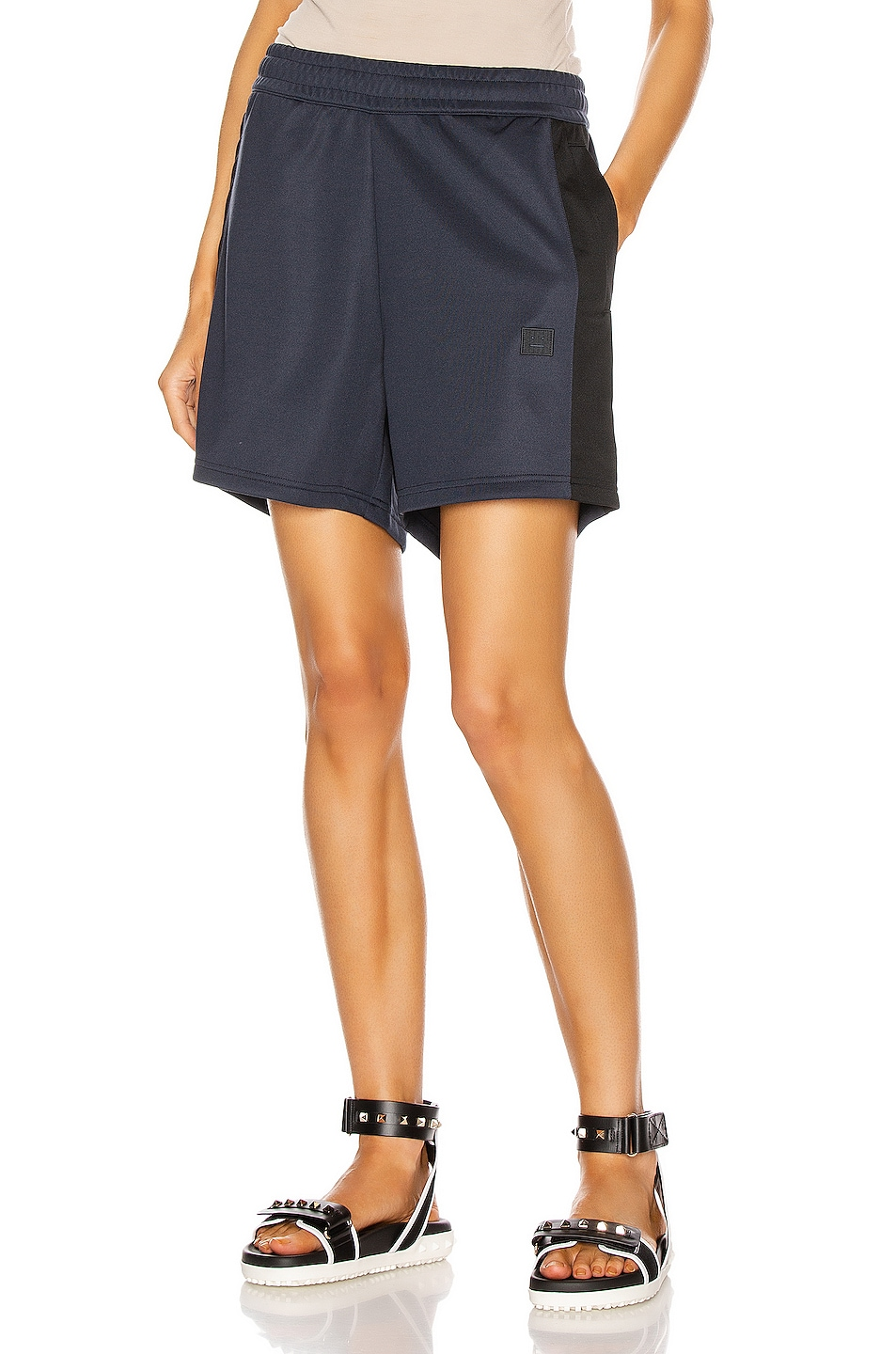 Image 1 of Acne Studios Payton Face Short in Navy Blue