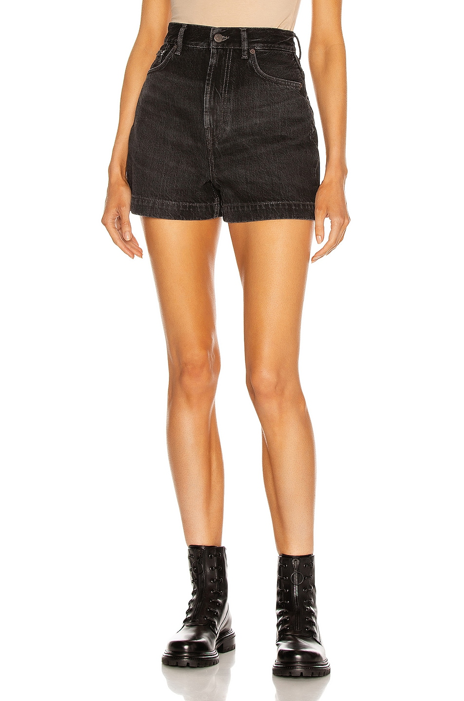 Image 1 of Acne Studios High Waisted Short in Black