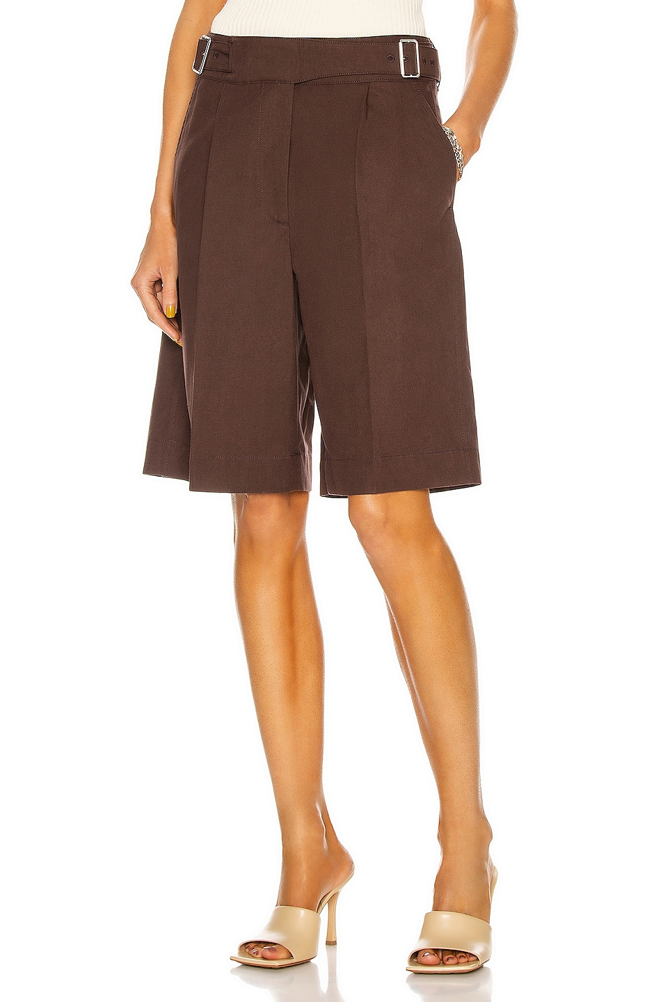 Image 1 of Acne Studios Military Short in Dark Brown