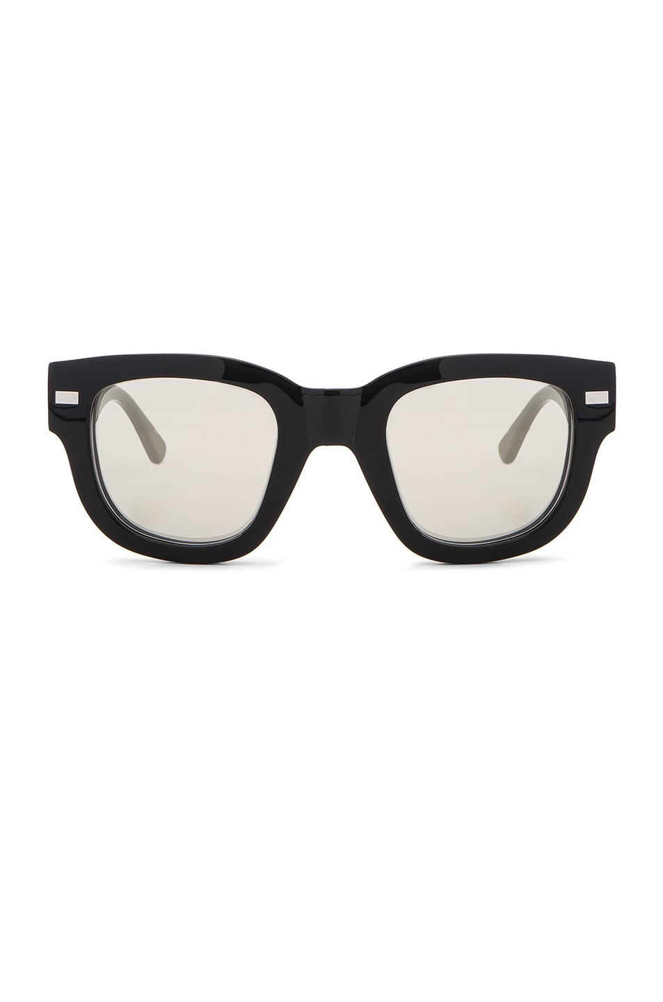 Image 1 of Acne Studios Frame Metal Sunglasses in Black & Silver