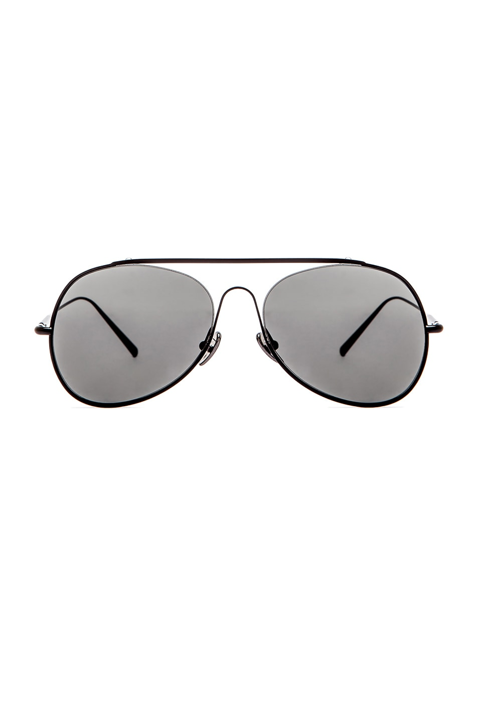 Image 1 of Acne Studios Large Aviator in Black Satin