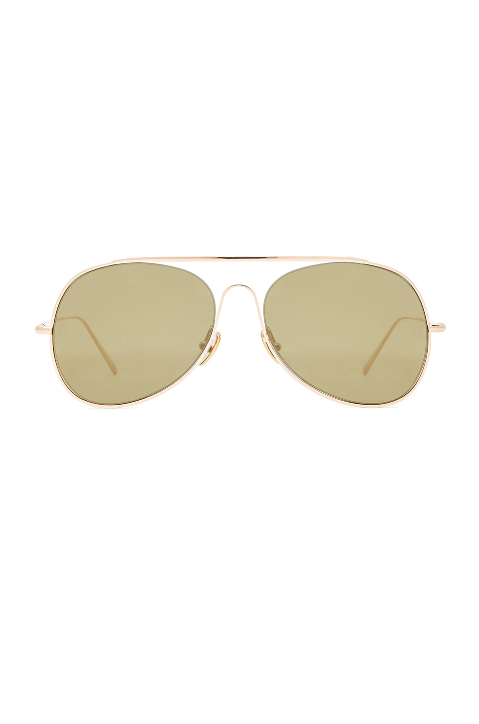 Image 1 of Acne Studios Large Aviator in Flash Gold