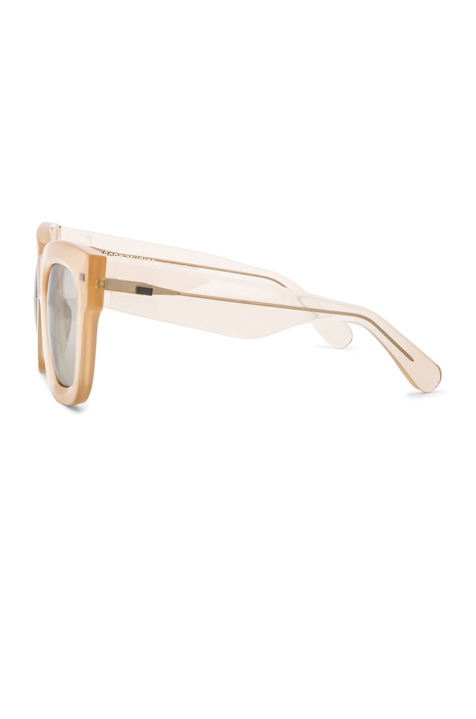 Image 3 of Acne Studios Library Metal Sunglasses in Opal Pink & Silver