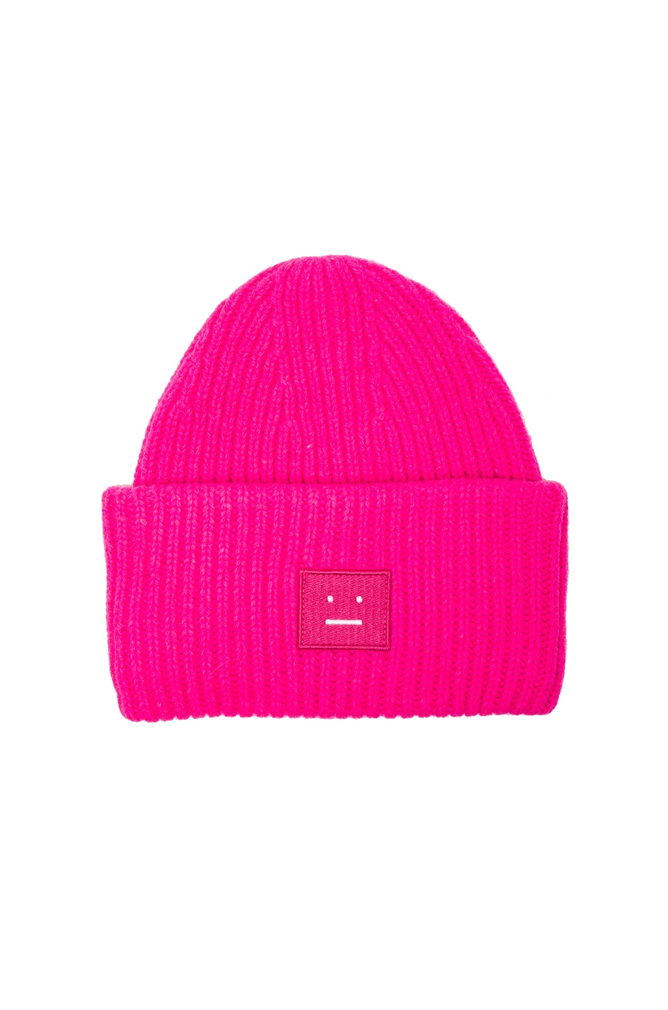 Image 1 of Acne Studios Pansy Wool Hat in Fuchsia Pink