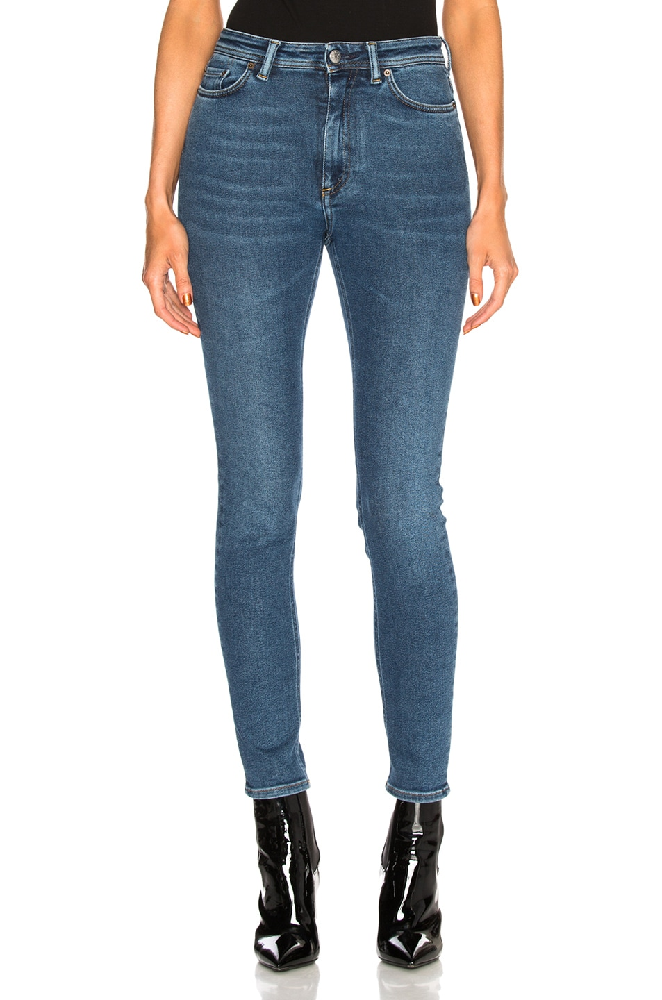 Image 1 of Acne Studios Bla Konst Peg Skinny in Mid Blue