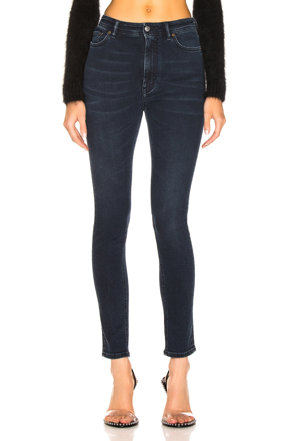 Image 1 of Acne Studios Bla Konst Peg Skinny in Blue Black