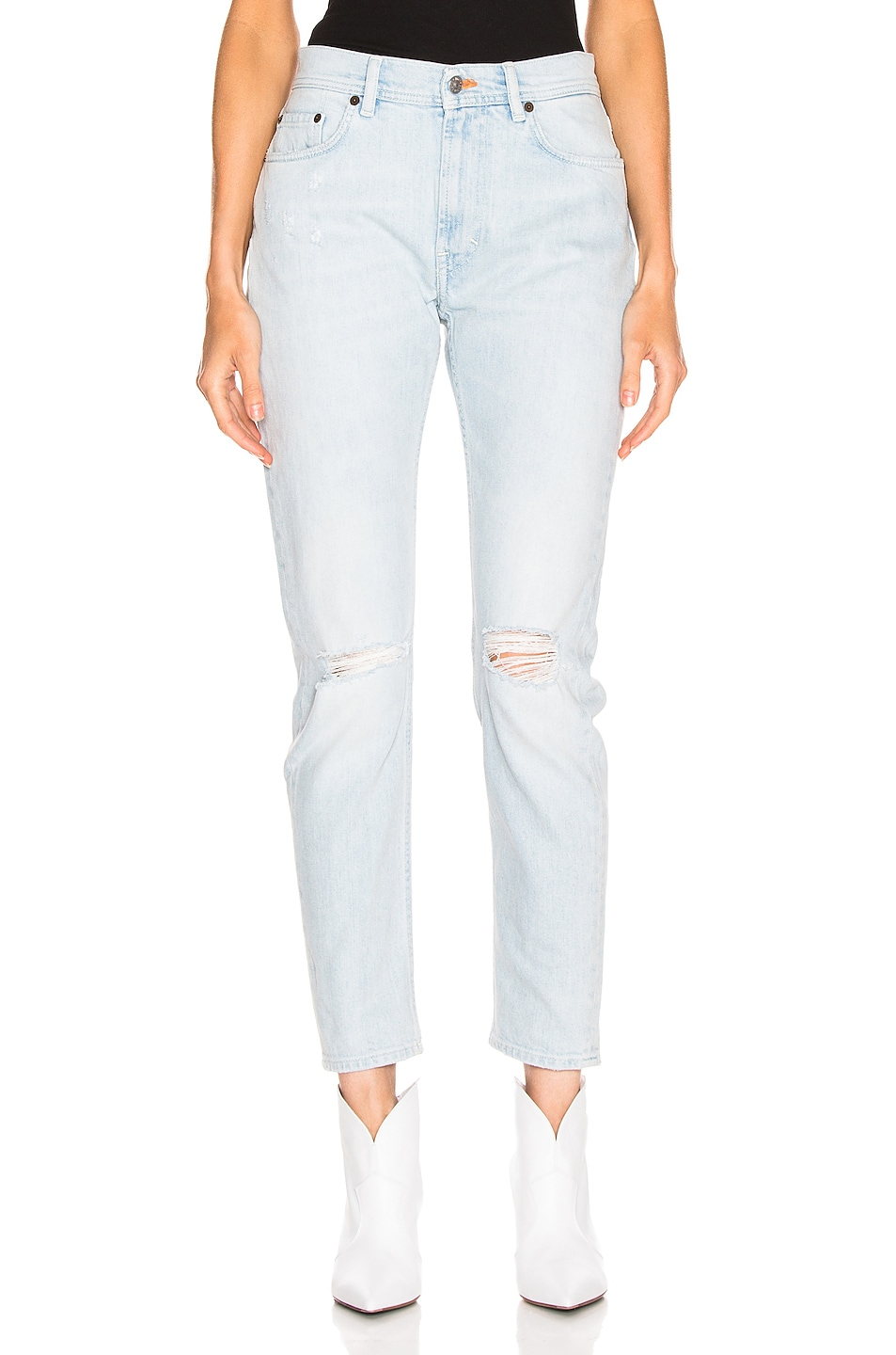 Image 1 of Acne Studios Melk Light Ripped Jean in Indigo